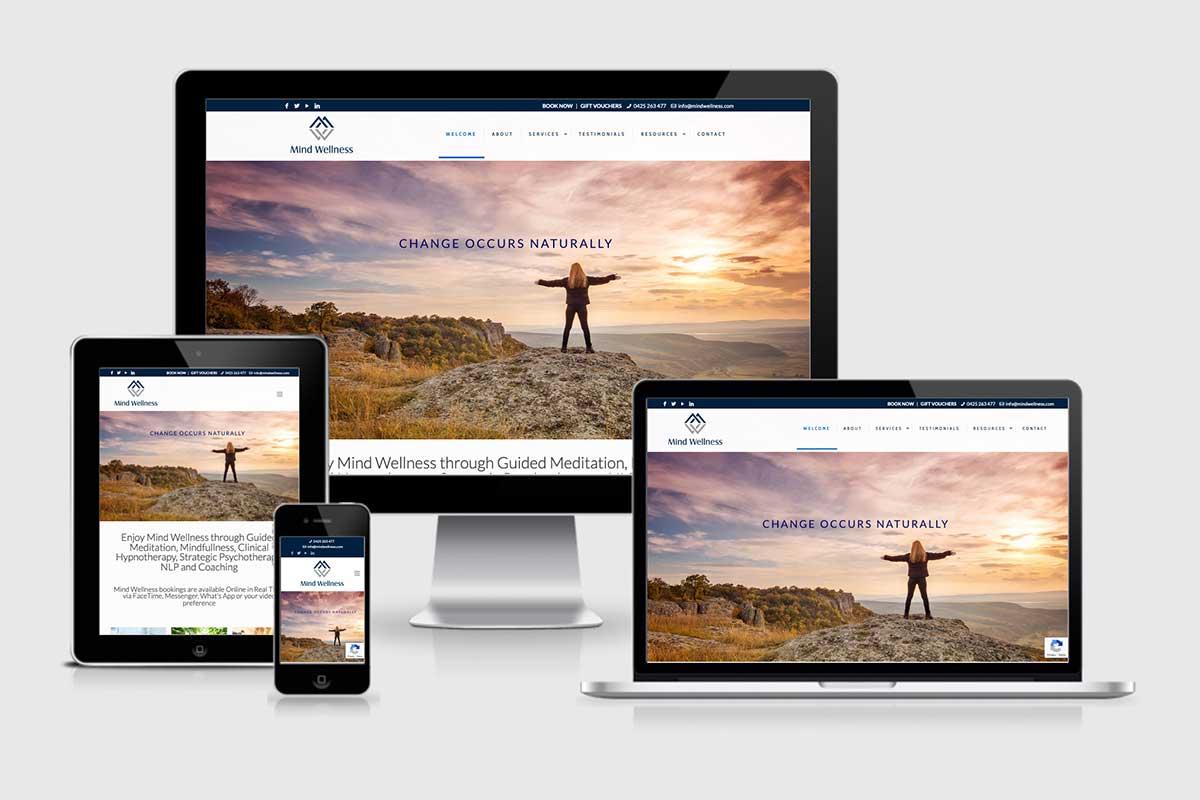 WordPress website, Rapid Websites, Mind Wellness