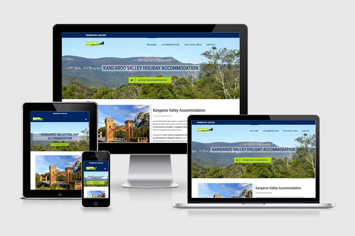 WordPress website, Rapid Websites, Kangaroo Valley Stays