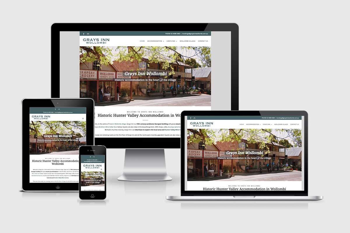 WordPress website, Rapid Websites, Grays Inn Wollombi