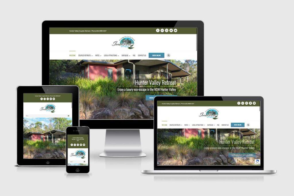 WordPress website, Rapid Websites, Somewhere Unique
