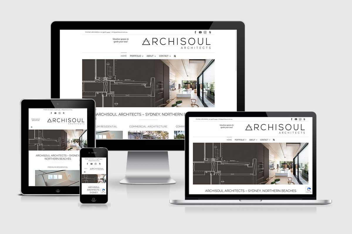 WordPress website, Rapid Websites, Archisoul Architects