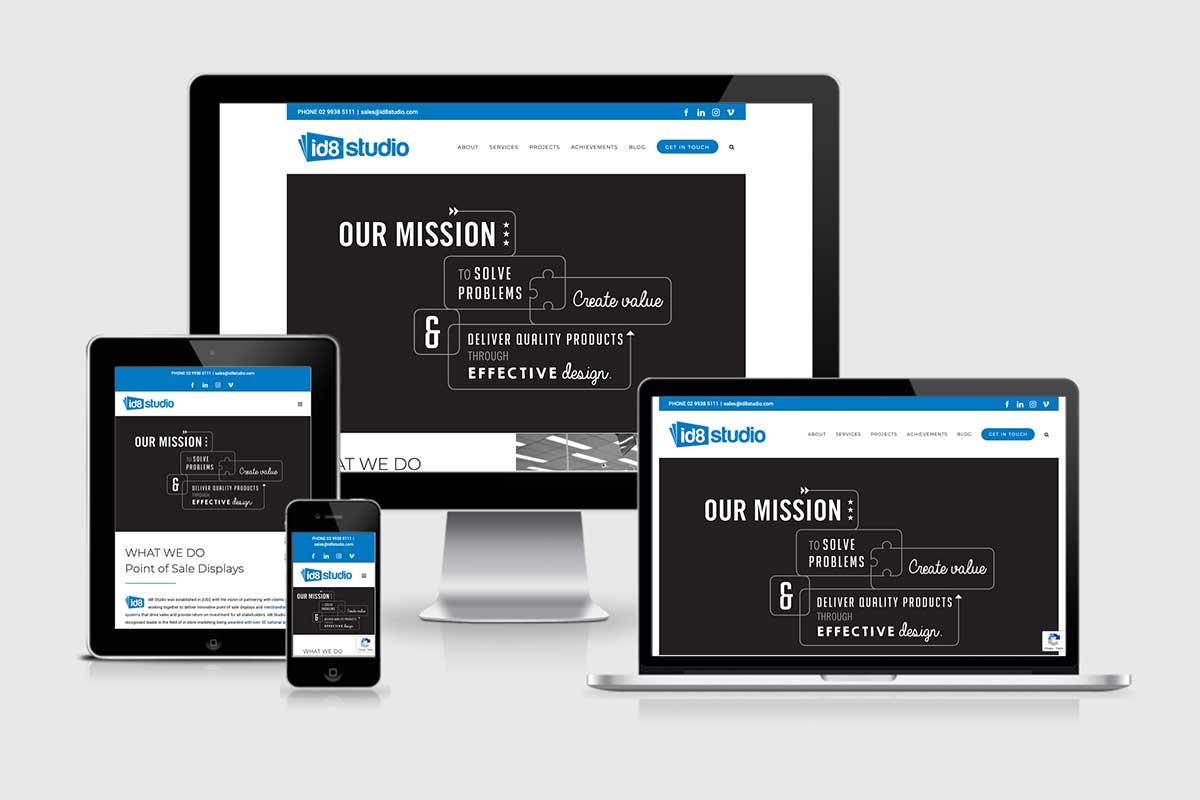 WordPress website, Rapid Websites, id8 Studio
