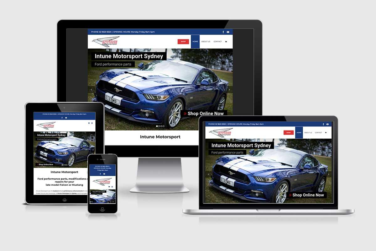 WordPress website, Rapid Websites, Intune Motorsport