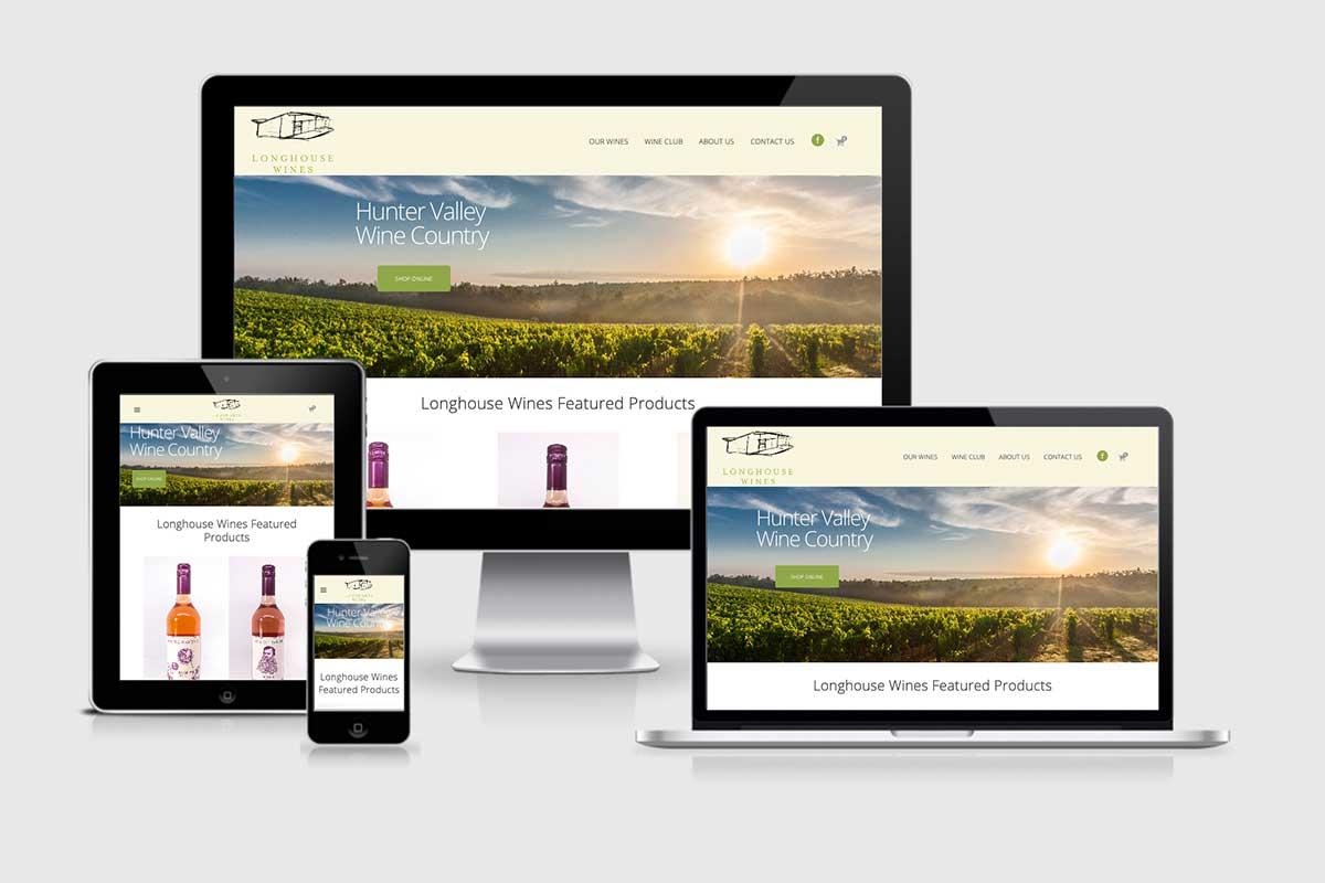WordPress website, Rapid Websites, Longhouse Wines