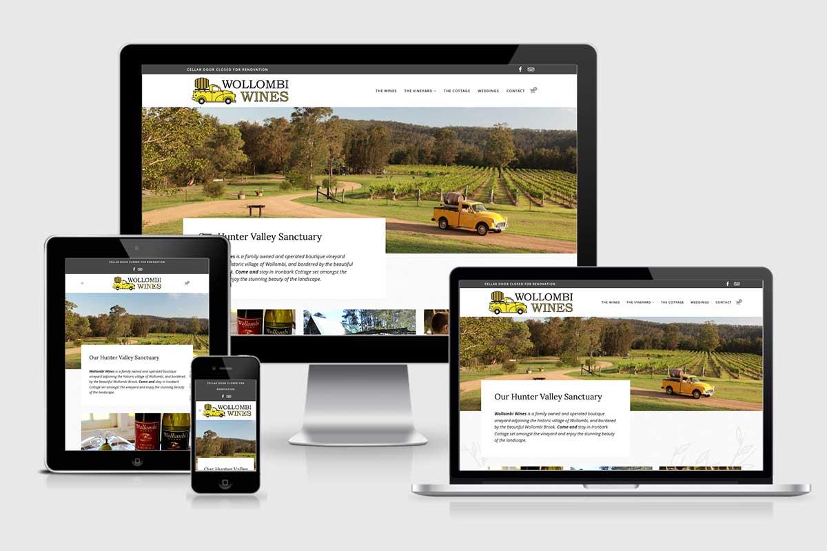 WordPress website, Rapid Websites, Wollombi Wines