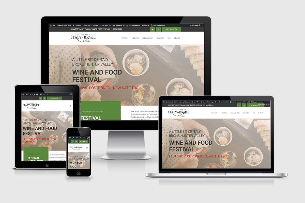 WordPress website, Rapid Websites, Italy in Broke