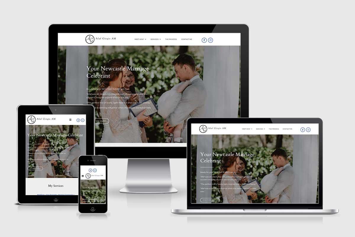 WordPress website, Rapid Websites, Afaf Girgis Marriage Celebrant