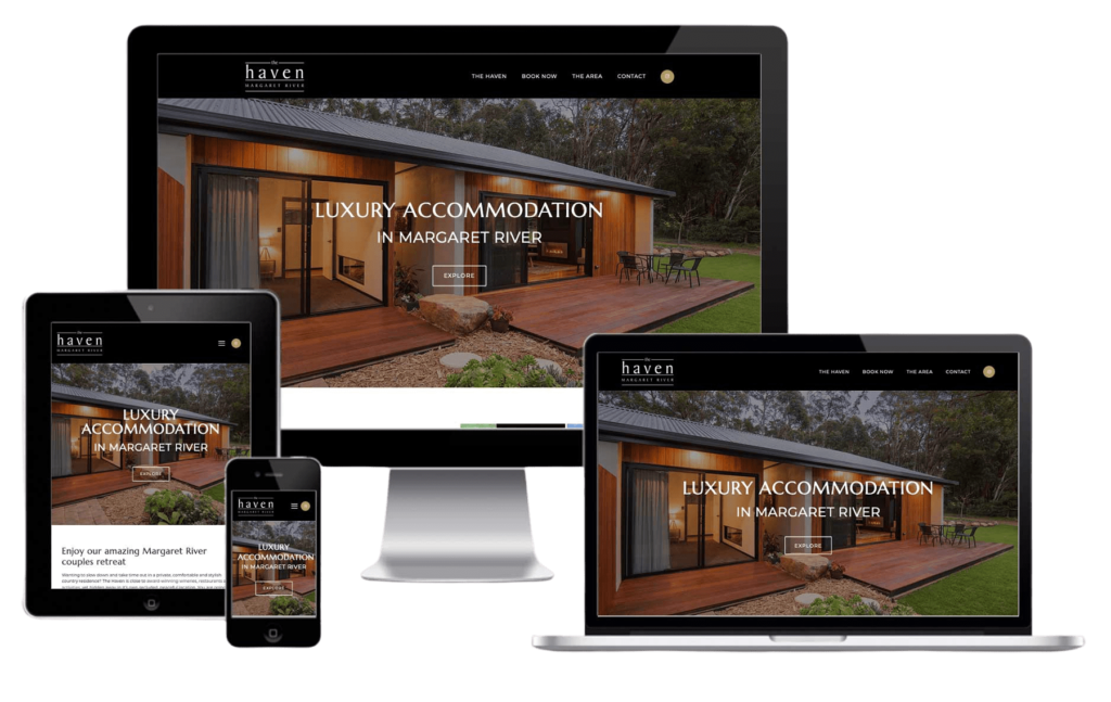 The Haven Margaret River, WordPress Website, Rapid Websites
