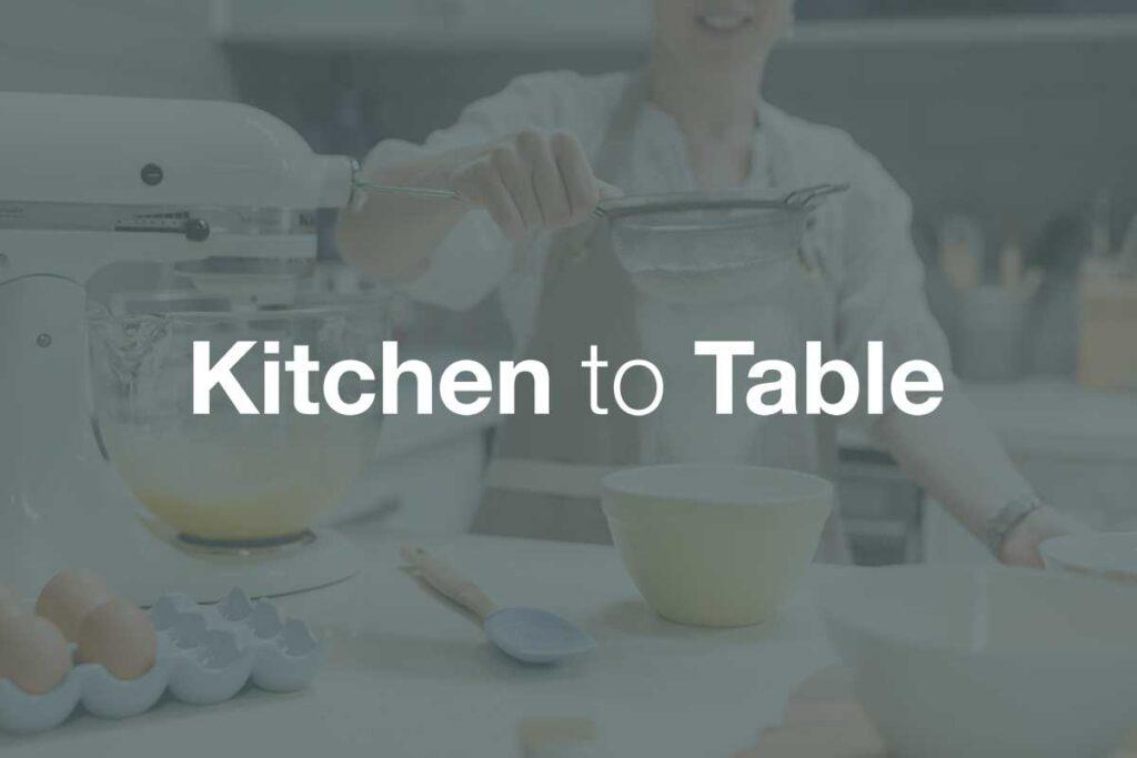 Kitchen to Table, WordPress Website, Rapid Websites