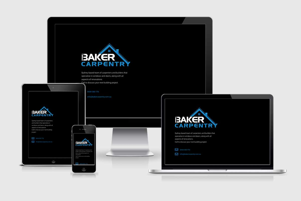 WordPress website, Rapid Websites, Baker Carpentry
